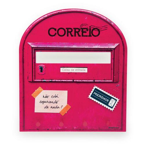 Porta-chaves-e-cartas-correio-rosa