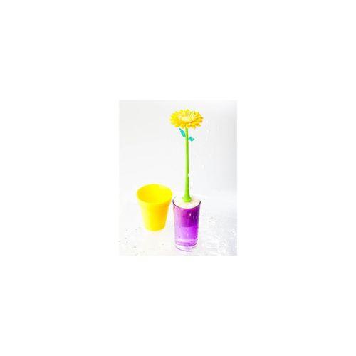 Escova-lava-loucas-flor-amarelo