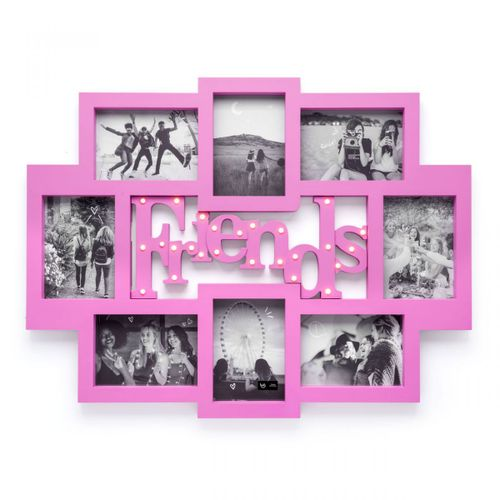 Painel-de-fotos-led-amizade-rosa
