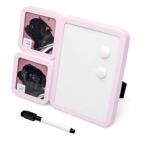 Porta-retrato-recado-rosa