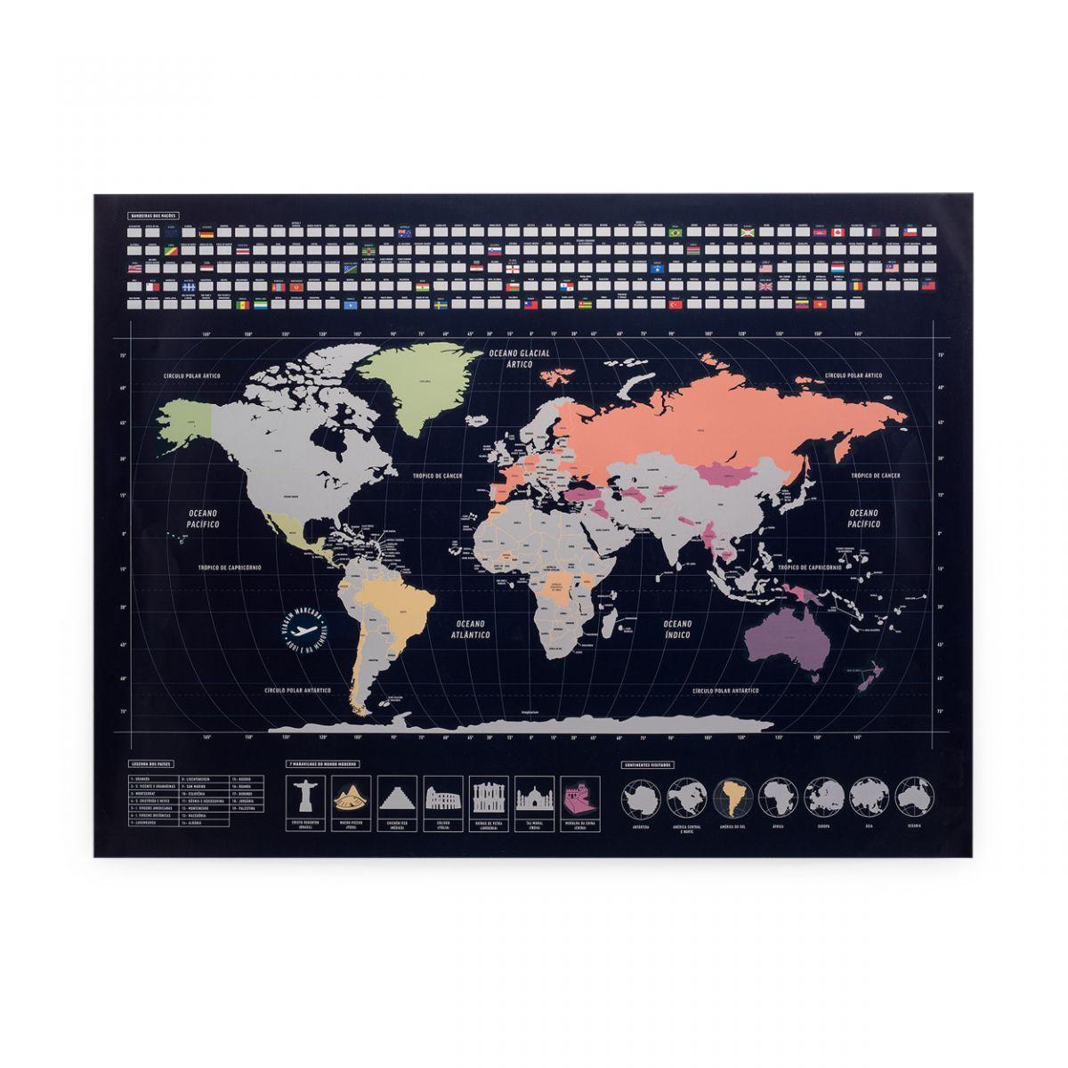 mapa mundi de raspadinha