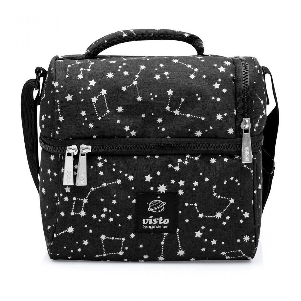 Bolsa Feminina Com Compartimento Para Marmita : Bolsa lancheira termica constelacoes imaginarium