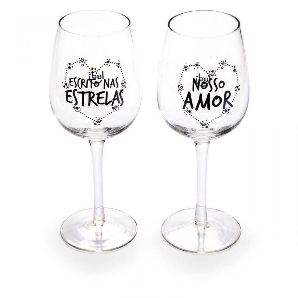 Conhecido Conjunto de tacas de vinho infinito amor - Ludi LN65