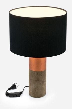 Abajur-cimento-cobre