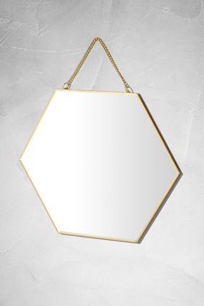 Espelho-hexagonal-dourado