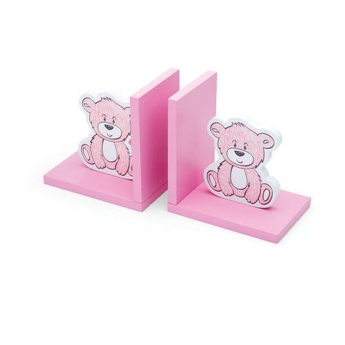 Porta-livros-urso-baby-rosa