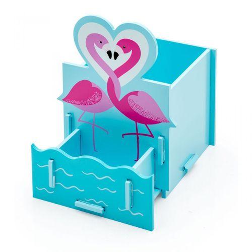 Porta-canetas-flamingos