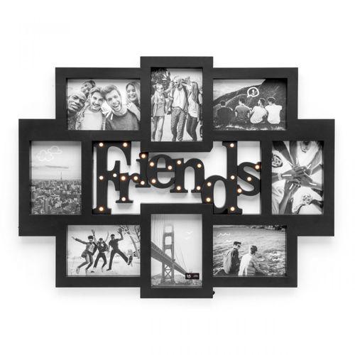 Painel-de-fotos-led-amizade-preto