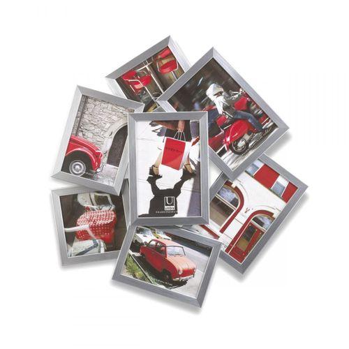 Porta-retrato-painel-7-fotos-multi-prata