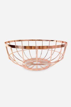 Fruteira-de-metal-cobre