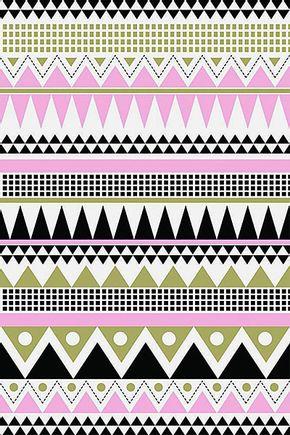 Tecido-adesivo-de-parede-asteca-rosa