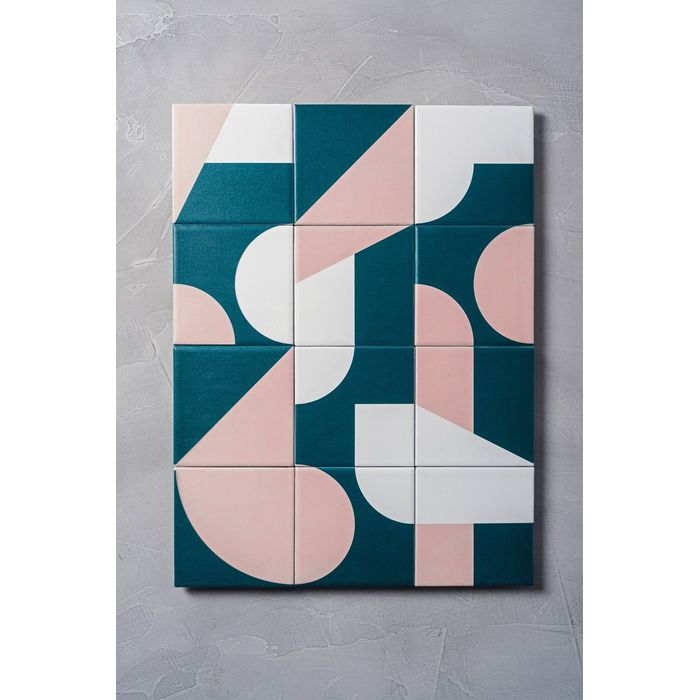 020770eff Quadro 12 azulejos geometrico - MinD