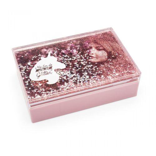 Caixa de fotos glitter unicornio