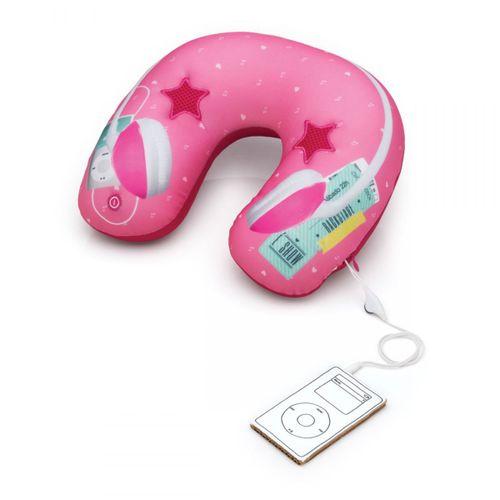Almofada-massageadora-speaker-fone-rosa
