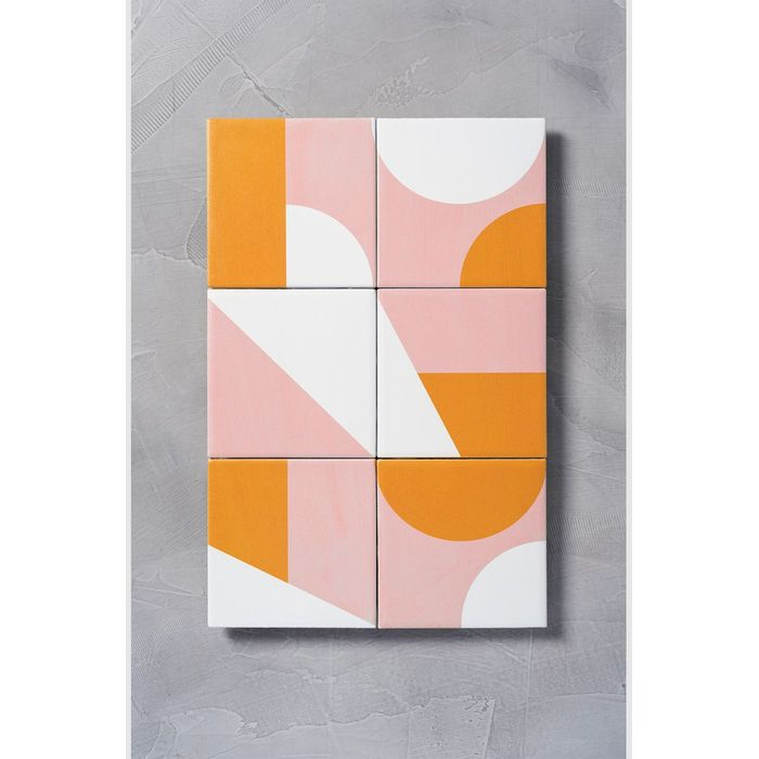bdfba5f5e Quadro 6 azulejos geometrico - MinD