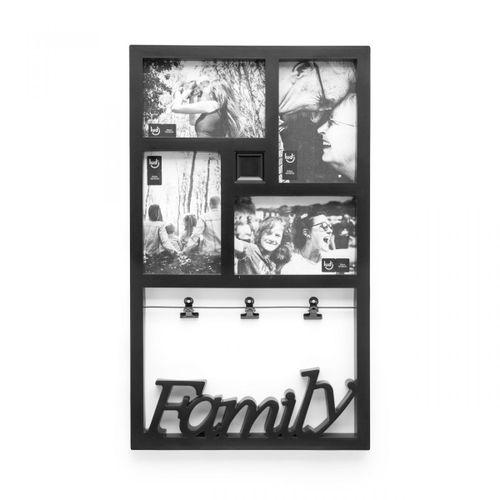 Painel de fotos varal familia preto