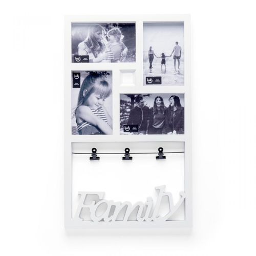 Painel de fotos varal familia branco