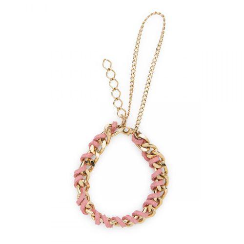 Pulseira-corrente-camurca-rosa