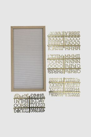 Quadro-letreiro-branco-e-dourado