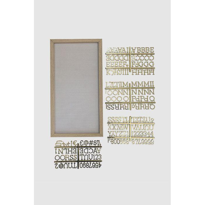 7a7e018d0 Quadro letreiro branco e dourado - MinD