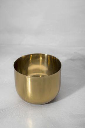 Porta-vela-copo-dourado