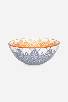 Bowl folk azul e laranja