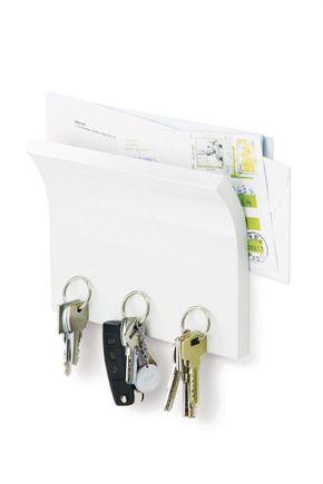 Porta-chaves-magnetico-branco