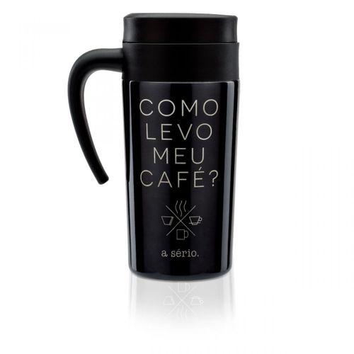 5646a7ce505ace Caneca para viagem levo meu cafe