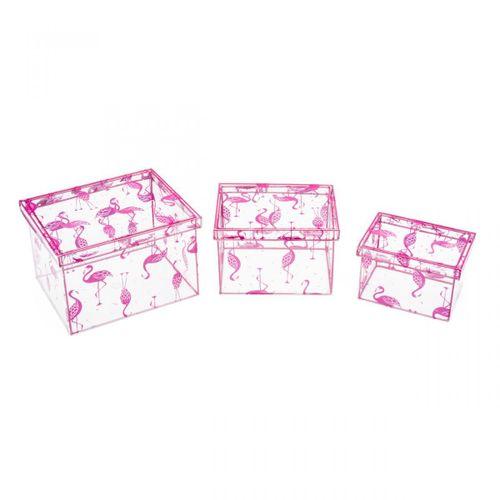Caixas-flamingos