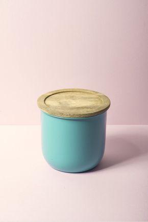 Pote-metal-madeira-verde