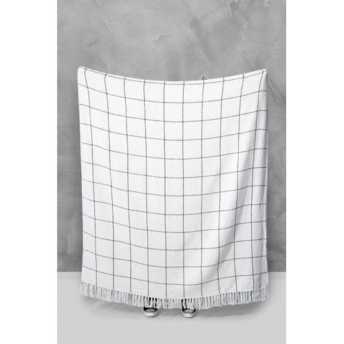 Manta grid preto e branco