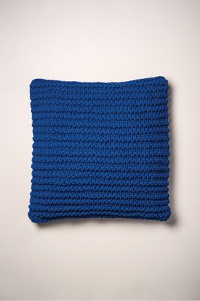 Capa-de-almofada-de-trico-azul