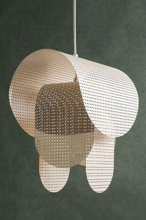 Luminaria-pendente-metal-vazado-areia