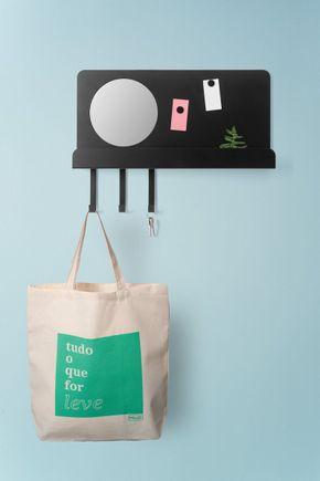 Placa-de-lembretes-organizador-preto