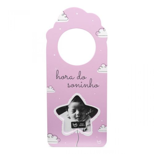 Aviso-de-porta-com-foto-bebe-rosa