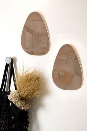 Espelho-forma-organica-cobre