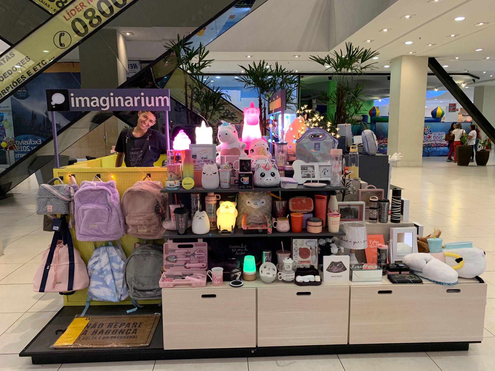 modelo loja de presentes imaginarium quiosque