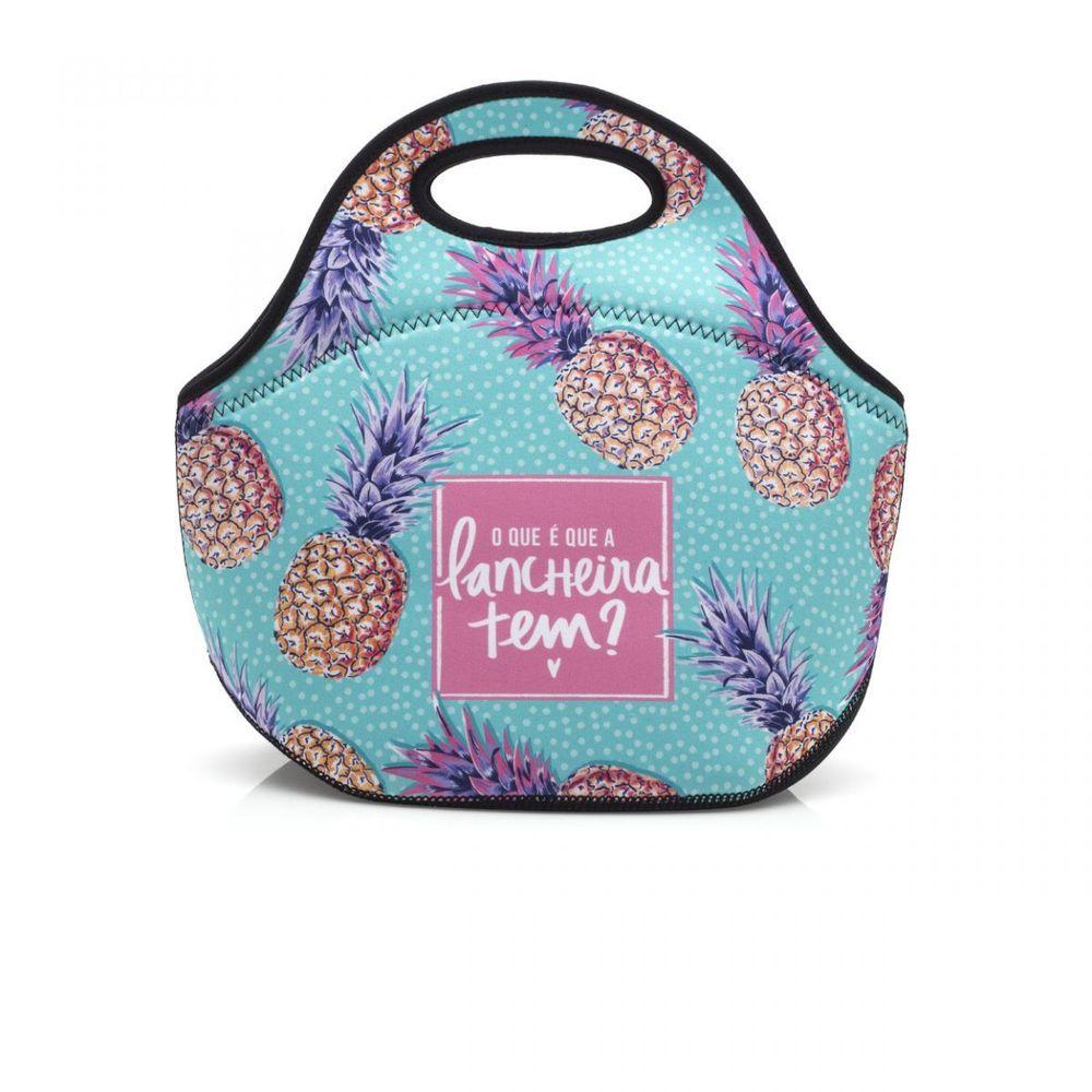 Bolsa Feminina Com Compartimento Para Marmita : Bolsa termica abacaxi imaginarium