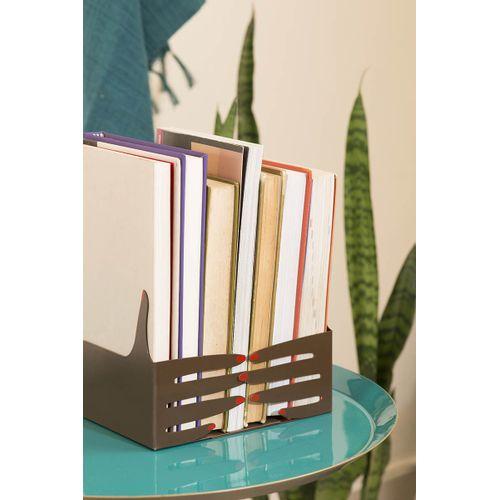 Porta-livros-metal-maos-pretas