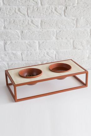 Comedor-pet-metal-terracota