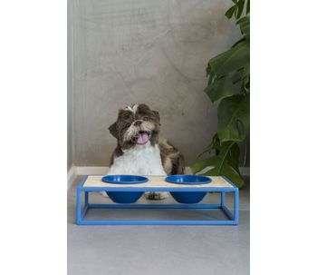 Comedor-pet-metal-azul