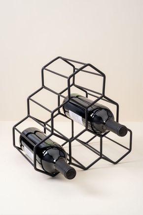 Adega-6-garrafas-colmeia-preta