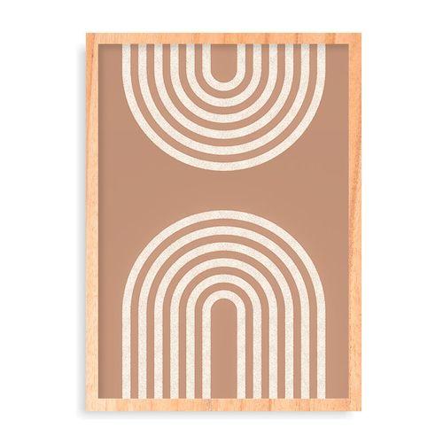 Quadro Two Geos Beige - 44 x 61,4 cm - Pinus