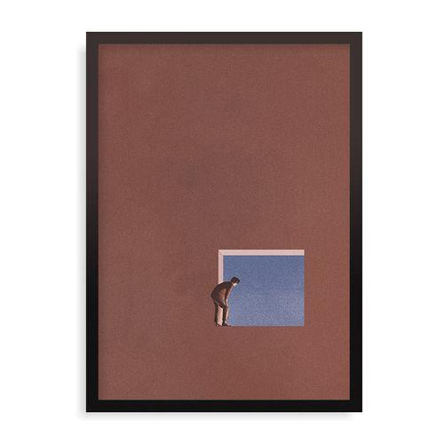 Quadro Curiosity - 44 x 61,4 cm - Preto