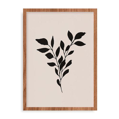 Quadro Leaves - 44 x 61,4 cm - Mel