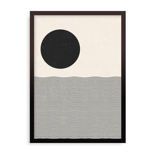 Quadro Ocean Woodblock - 44 x 61,4 cm - Preto