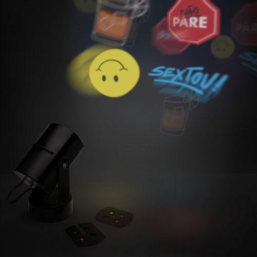 Luminaria-projetor-com-inserts-preta