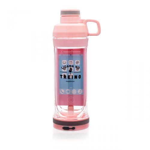 Garrafa-porta-celular-rosa-ligada-no-treino-400-ml