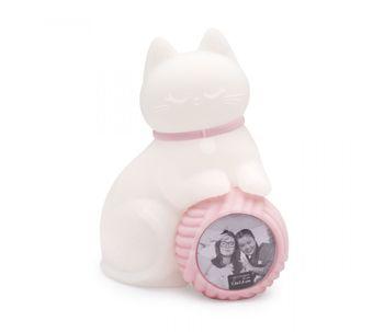 Luminaria-de-mesa-porta-retrato-gata-rosa