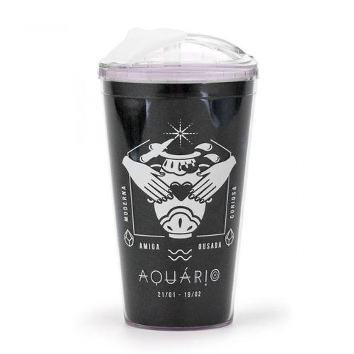 Copo-com-canudo-retratil-preto-signo-aquario-350-ml